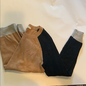 Madewell Sweater with Waffle Sleeve Detailing